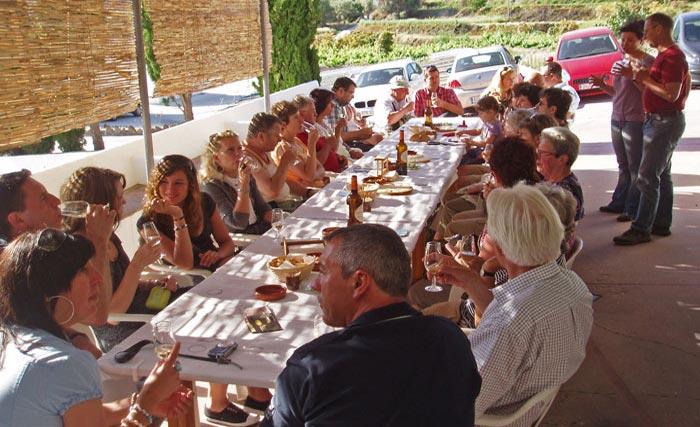 Die Weinproben in der Bodega Almijara