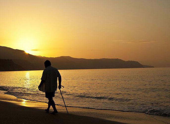 Sonnenaufgang am Burriana Strand