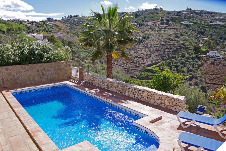 Der proivate Pool von Casa El Mirador