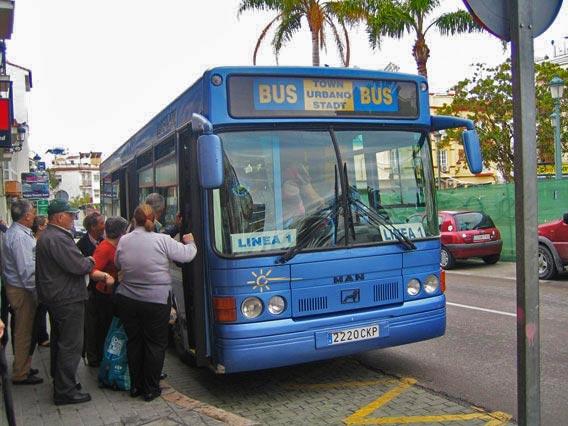Buslinie nach Nerja.